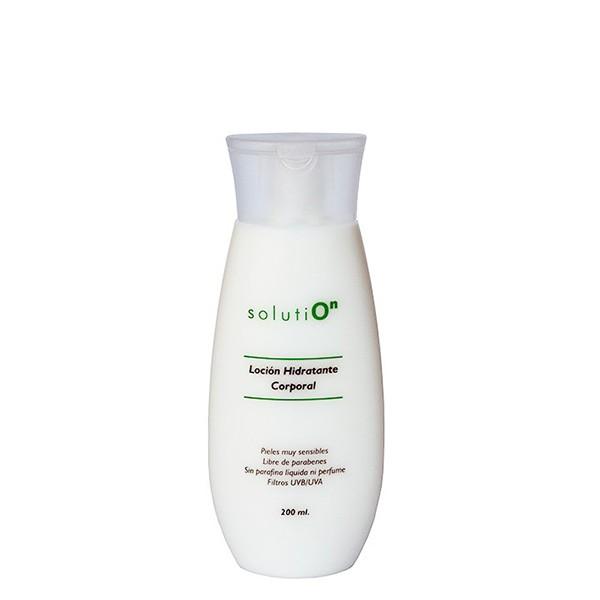 SOLUTION loción hidratante corporal con protección solar